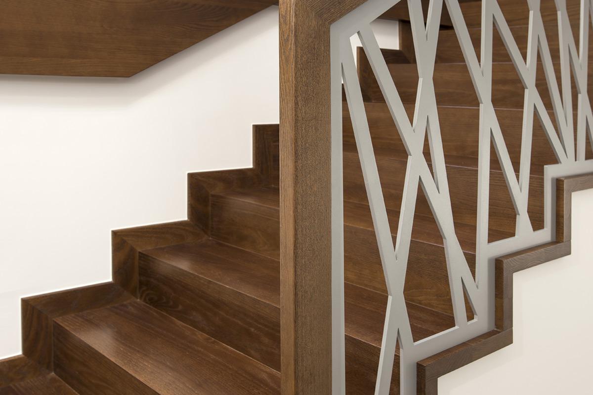 Balustrada laserowa - Producent schodów drewnianych - Olsztyn